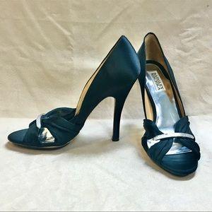 Badgley Mischka black satin heel 8.5M